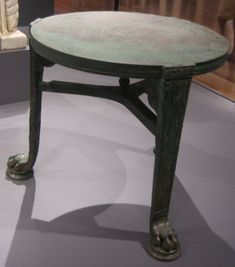 Bronze table from Pompeii - Ancient furniture - Wikipedia, the free encyclopedia