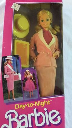 Vintage Barbie Doll Day to Night 1984 Mattel Doll Original Box Vintage #Mattel #Dolls