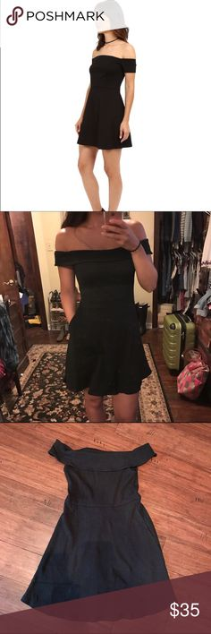 FP Off the Shoulder Dress New!  No tags, was ordered online.  Never worn.  Says FP Beach, but the material is much richer than a cover up.  Has pockets.  Pair with booties and a mean jacket for the fall! Free People Dresses Mini