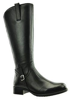 JJ Footwear Damen Stiefel Leder Sydney M/L Schwarz Nappa Capri 39 - Stiefel für frauen (*Partner-Link)