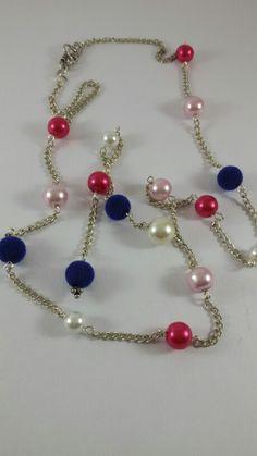 mixed bead an chain neck piece