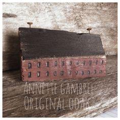 Repurposed Saltbox Home Primitive Rustic Home Folk Art By Annette Gambrel Ooak in Antiques | eBay