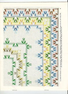 Design Book- Page 1 Cross Stitch Bookmarks, Cross Stitch Borders, Cross Stitch Designs, Cross Stitch Patterns, Embroidery Stitches, Embroidery Patterns, Hand Embroidery, Huck Towels, Swedish Weaving Patterns