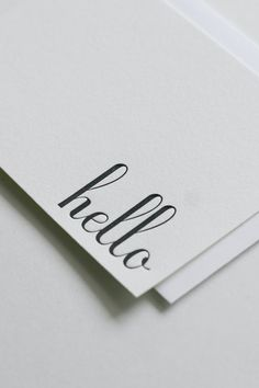 """Perfect for sending a short and sweet """"hello,"""" these 8 flat notecards w/ matching envelopes are made in SF by In Haus Press. #sf #local $14"""