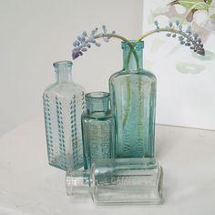 Not On The High Street Vintage Bottles: Coastal Bathroom Accessories: Homewares: Interiors