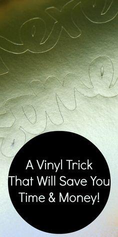 Easy vinyl trick - s