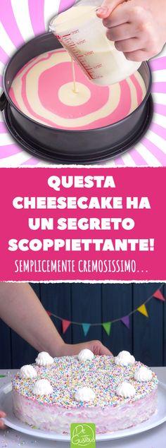 Una cheesecake con un motivo a spirale, come non l'avete mai vista prima d'ora! Sarà un grande successo sulla vostra tavola! #cheesecake #dessert #rosa #bianco #colorante #alimentare #dolci #facile #torta #cucina