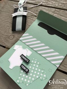 Gift Card Holder Mint Stampin365