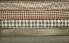 Dunroven House 5 Homespun Sage Wheat Burgundy Fabric Fat Quarters
