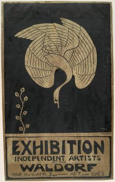 Alfred Joseph Frueh (American, 1880-1968). Independent Artist Exhibition Poster, Waldorf.