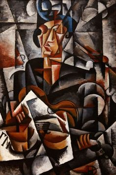 Lyubov Popova (1889-1924. Lady with the Guitar, 1915, Oil on canvas,  Museum of Art, Smolensk, Russia.