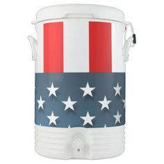 USA Flag Igloo Beverage Dispenser