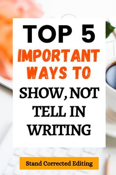 The Show, Not Tell technique is one of the hardest to master, but once you know how to do it, your writing will significantly improve and you'll instantly become a much better novelist! But...you need to learn how to do it first! Check out these top 5 important ways to show, not tell in your writing - FREE PDF! #shownottellwriting #shownottellemotions #shownottellcharactertraits #showdonttellwritingexamples Creative Writing Tips, Book Writing Tips, Writing Process, Writing A Book, Authors, Writers, Laughing And Crying, Fiction Writing, Self Publishing