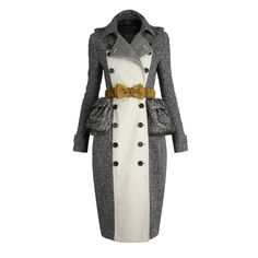 Burberry Cotton Tweed Trench Coat ($2,795) ❤ liked on Polyvore