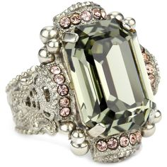 "Sorrelli ""French Blush"" Bold Crystal Cocktail Ring"