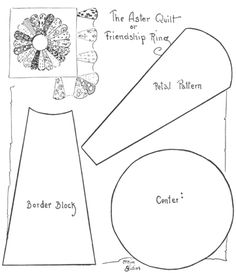Moldes para hacer una flor con los pétalos juntos