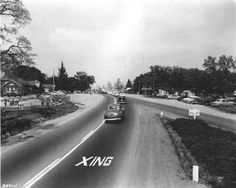 Sylvan Corners -- 1951.  -- Citrus Heights, ca -- School is on the left.