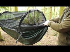 A short introduction to DD SuperLight Jungle Hammock. Please note: For the best setup with waterproof layer above (used as a rain cover) please angle the pol. Jungle Hammock, Mobile Living, Outdoor Gear, Tent, Backpack, Store, Tentsile Tent, Outdoor Tools, Women's Backpack