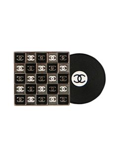 Authentic vintage Chanel from Resurrection Vintage RECORD BROOCH