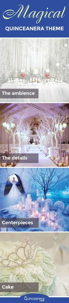 Celebrate your quinceañera party with original, fun and creative winterland fantasy theme decoration. - See more at: http://www.quinceanera.com/decorations-themes/magical-theme-winterland-fantasy/#sthash.v81QLBrc.dpuf
