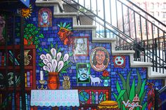 Paper Mural by Manny Vega. Location: La Casa Azul Bookstore, East 103rd Street near Lexington Avenue.