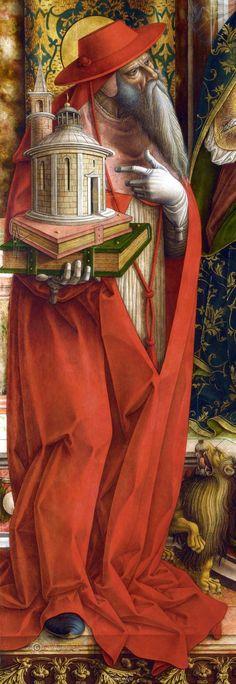 Карло Кривелли Мадонна с ласточкой (detail) 1490-95 Национальная галерея, Лондон