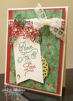 Stamp It Group Blog Hop featuring Christmas in July. Stampin' Up! Peace This…