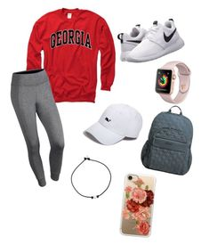 How bout them dawgs by lydiafb-123 on Polyvore featuring polyvore, fashion, style, NIKE, Vera Bradley, Casetify, Vineyard Vines and clothing