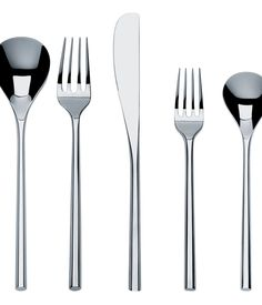 Alessi MU Flatware Place Setting Created by award-winning Japanese architect and designer Toyo Ito, this distinctive cutlery set draws on...