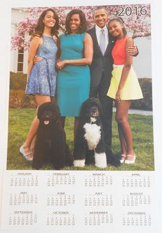 """The First Family """"2016"""" 12 x 18 -PORTRAIT- (year- at- a- Glance) Calendar"""