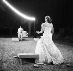 wedding cornhole via calder clark designs blog