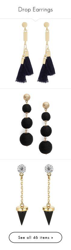 """""""Drop Earrings"""" by random11-1 ❤ liked on Polyvore featuring jewelry, earrings, jewelry earrings, bohemian style jewelry, boho chic jewelry, tassel earrings, boho earrings, boho jewelry, black and beaded drop earrings"""
