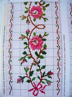 The most beautiful cross-stitch pattern - Knitting, Crochet Love Cross Stitch Letters, Cross Stitch Heart, Cross Stitch Borders, Modern Cross Stitch Patterns, Cross Stitch Flowers, Cross Stitch Designs, Cross Stitching, Cross Stitch Embroidery, Cross Stitch Beginner