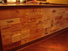 3D Custom Bar Front Made with Wine Panels - Buy Wine Panels like these!