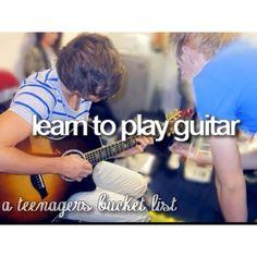 Guitar. #bucketlist