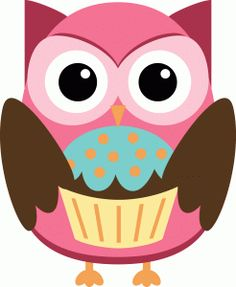 Silhouette Online Store - View Design #40035: party owl with cupcake