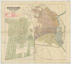 Békéscsaba átnézeti térképe [BéML XV 1 a 111] | Térképek | Hungaricana Vintage World Maps, Art, Art Background, Kunst, Performing Arts, Art Education Resources, Artworks