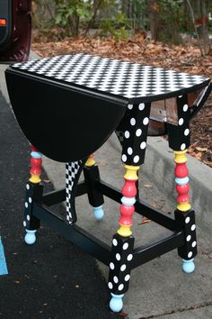 Find an old little table in a second hand or thrift store and bring it back to life with a little bit of paint!!
