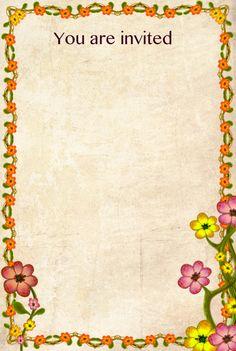 63 Best Invitation Card Floral Design Printable Images On Pinterest