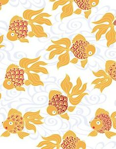 "Paper Source - Goldfish Wrapping Paper - 2 sheets 27""x39"" @ $7.95 - 24 paper cranes that are 6""x6"""