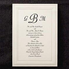 Intricate Embossed Panel #Wedding #Invitation