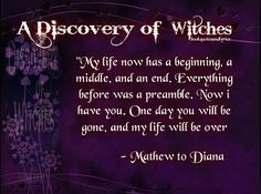 Book Quotes and Lyrics: A Discovery of Witches Quotes