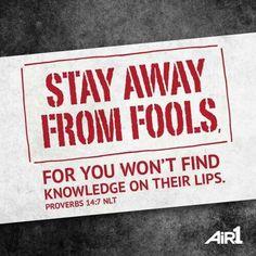 Proverbs 14:7