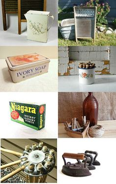 Vintage Laundry Room Makeover --Pinned by xurple.etsy.com with TreasuryPin.com