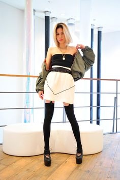 Area:Chanel pop-up boutique  Name:紗羅マリー  Occupation:Model  Jacket:Used  Skirt:Chanel S/S 2012  Shoes:John Rocha  Accessories:Antique  Belt:The Reality Show Closet  Favorite shops:faline  Hair salon:SHIMA harajuku