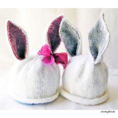 KnitzyBlonde Bunny Hat