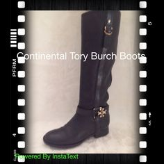 Continental Tory Burch Boots These boots are hot! Beveled leather with gold zippers, and hardware! Warn twice! I will not trade boots if you ask be ready not to be answered these boots are cash only or cash with trade! Tory Burch Shoes Heeled Boots