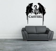 Supernatural Castiel Vinyl Die-cut Wall Decal Sticker Home Decor. Honestly I have space for one of these