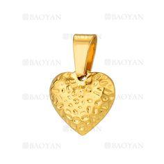 colgante de corazon especial dorado acero inoxidable -SSPTG921387