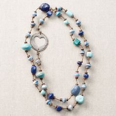 Blue Cobalt Long Necklace with